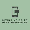 Giving Voice to Digital Democracies logo