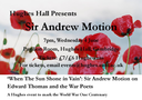 Sir Andrew Motion Visits Cambridge in War Poets Event logo